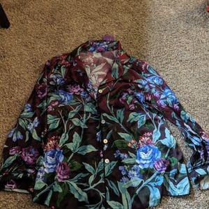 Silk pj/casual top